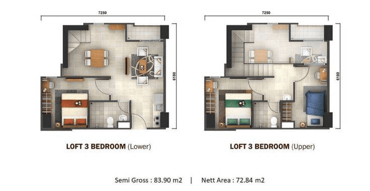 loft 3 bedroom